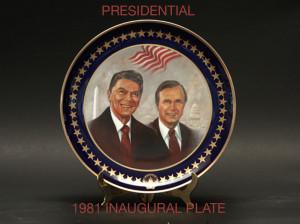 1981 Inaugural Plate