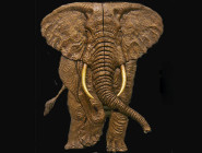 Elephant Door Relief