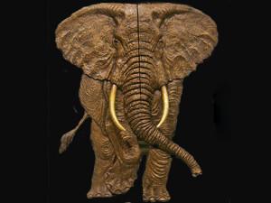 Elephant Door Relief