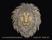 Lion Head Relief