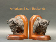Rhino Cape Buffalo Bookends